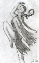 A dancing elf