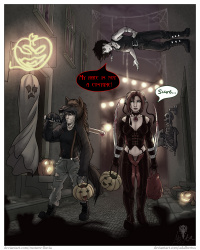 Trick or treating with friends comic